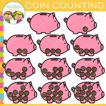 Coin Counting Clip Art