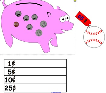 Coin Counting Game/Flipchart for Smartboard