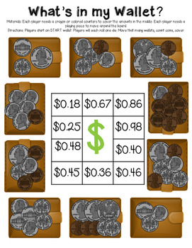 Coin Counting Math Games