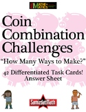 Coin Counting Mystery Task Card Challenges: 42 different d