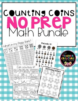 Coin Counting NO PREP bundle