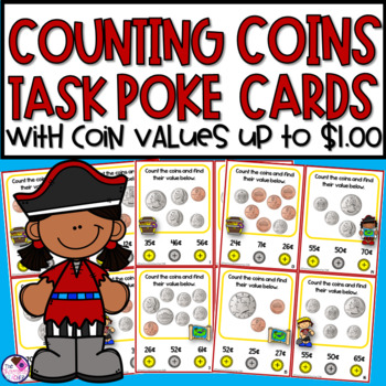 Counting Coins Poke Card Activity and Printables
