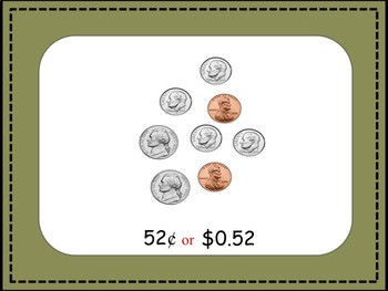 Coin Counting PowerPoint with Dollars and Cents {CC.2.4.3.A.3}