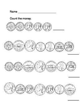 Coin Counting Practice Sheet