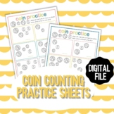 Coin Counting Simple Math Worksheets