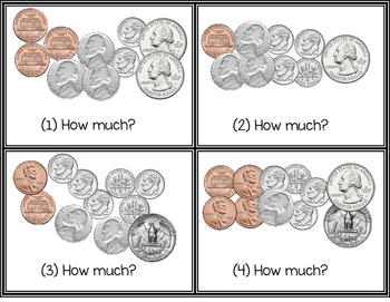 Coin Counting Task Cards