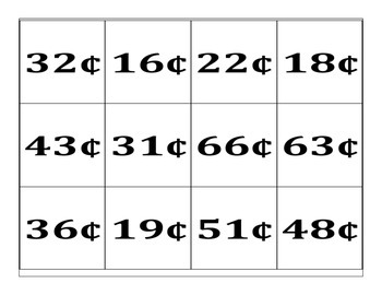 Coin Counting Task Cards DNP