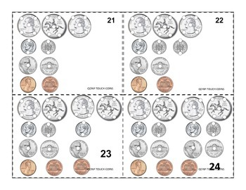 Coin Counting Task Cards QDNP