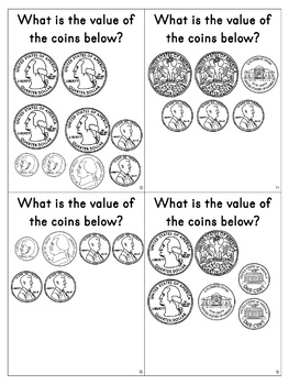 Coin Counting Task Cards or Scoot