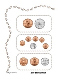Coin Counting file Folder Math center - Addition 6 to 13 c