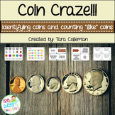 "Coin Craze!  ID & Count ""Like"" Coins"