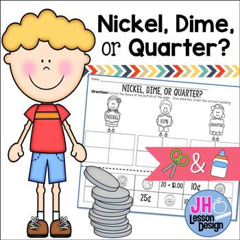 Coins Cut and Paste: Nickel, Dime, or Quarter?