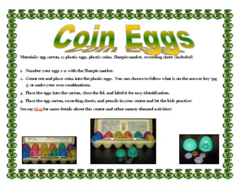 Coin Eggs Center Activity