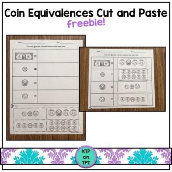 Coin Equivalences Freebie!
