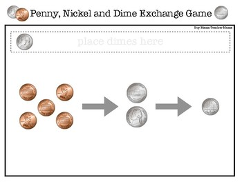 Coin Exchange Games: Practice Exchanging Pennies, Nickels and Dimes