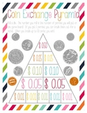 Coin Exchange Pyramid Game - Penny through Half-Dollar