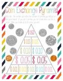 Coin Exchange Pyramid Game - Penny through Half-Dollar