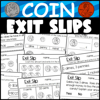 Penny, Nickel, Dime, And Quarter Worksheet Teaching Resources ...