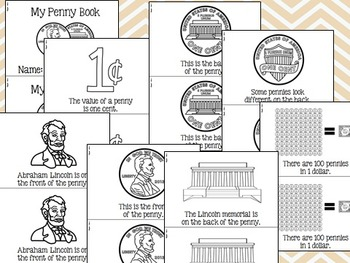 Coin: Emergent Reader Penny, Nickel, Dime, Quarter