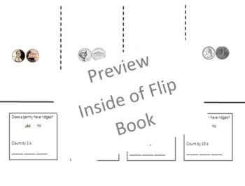 Coin Flip Book-Penny, Nickel, Dime & Quarter