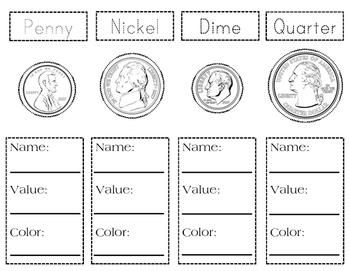 Coin Flip Book-Printable