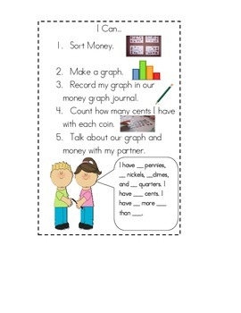 Coin Graphing Journal Math Station