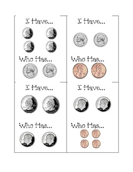 Coin I Have Who Has Game