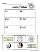 Coin ID and Value Worksheets for Special Education