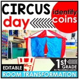 Coin Identification   1st Grade Circus Room Transformation