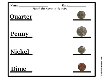 Coin Identification Activities  - Book, Puzzles, and Worksheets