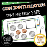 Coin Identification Drag and Drop Game BOOM Card Deck