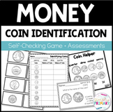 Identifying Coins Activities | Worksheets | Math Game | Coin Helper