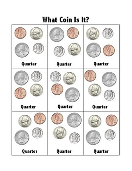 Coin Identification-REAL coins! No distracting graphics! Life Skills/Functional