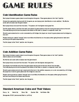 Coin Identification and Addition File Game (Secular Version)