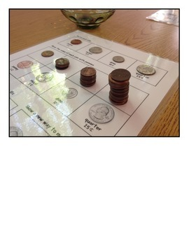 Coin Identification and Value Work Mat