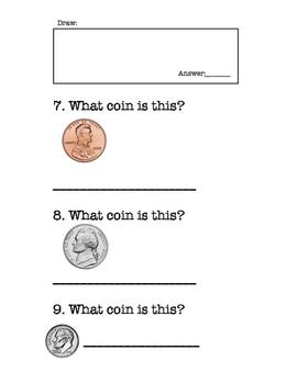 Coin Math Worksheet