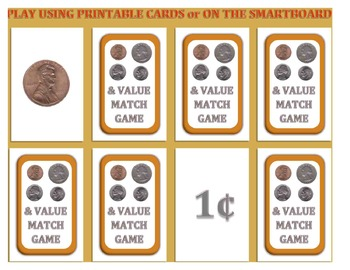Coin Concentration Game: Match the Coins with their Value!