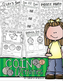 Coin Money Activities, Worksheets, Printables, Game