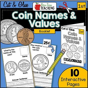 Coin Name & Value Cut N' Glue Math Booklet!