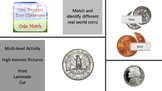 Coin Picture and Word Match