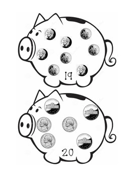 Coin Piggy Bank Counting
