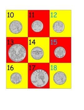 Coin Pocket Calendar Pieces