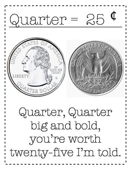 Coin Poem cent sign and decimal