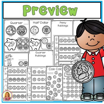 Money (Coin) Printables for Young Learners (With Bonus Clip-It Cards Center)