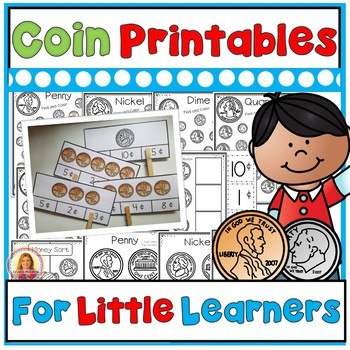 Money (Coin) Printables for Young Learners (With Bonus Cli
