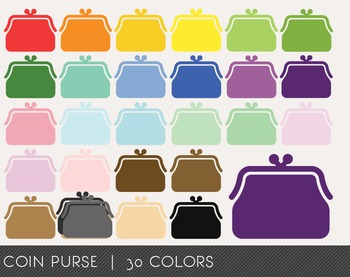 Coin Purse Digital Clipart, Coin Purse Graphics, Coin Purse PNG