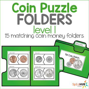 Coin Puzzle File Folders - Level 1