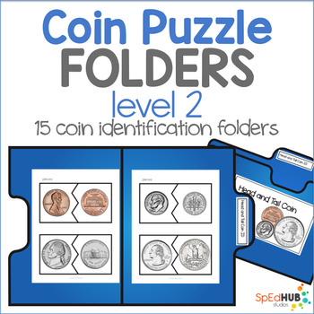 Coin Puzzle File Folders - Level 2