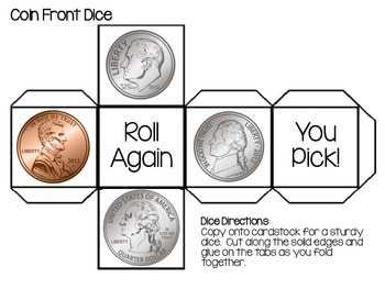 Coin Recognition: Roll, Tally & Graph Math Center