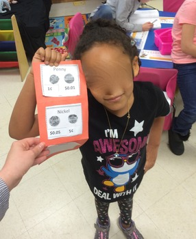 """Coin Recognition Student """"Wallets"""" and Interactive Notes for Math Journals"""